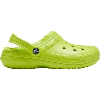 クロックス サンダル シューズ レディース Crocs Adult Classic Fuzz-Lined Clogs LimePunch