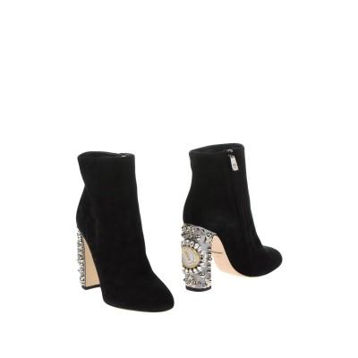 ドルチェ & ガッバーナ DOLCE & GABBANA ショートブーツ ブラック 37 革 ショートブーツ