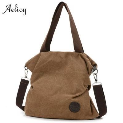 Aelicy 女性キャンバスボディクロスボディハンドバッグ ハンドバッグ 女性ブランドトートバッグ