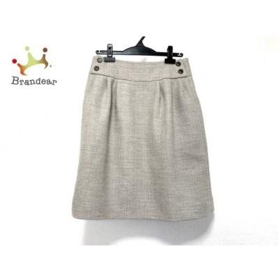 フォクシー FOXEY スカート サイズ40 M レディース 美品 - ベージュ ひざ丈 新着 20200511