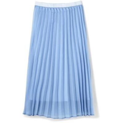 ROSE BUD/ローズ バッド 光沢プリーツスカート ブルー -