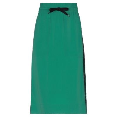 ヌメロ ヴェントゥーノ N°21 ひざ丈スカート グリーン 38 アセテート 69% / シルク 31% / レーヨン / ガラス / 真鍮/ブラス