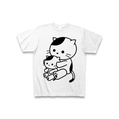 ねこのおやこ Tシャツ(ホワイト)
