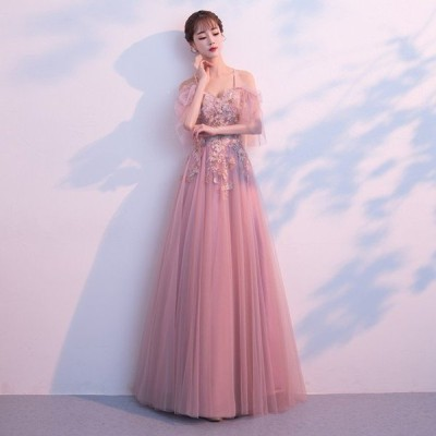 ロングドレス ウェディングドレス カラードレス パーティードレス 発表会 大きいサイズ 結婚式 ワンピース 二次会 ドレス 演奏会用ドレス 安い
