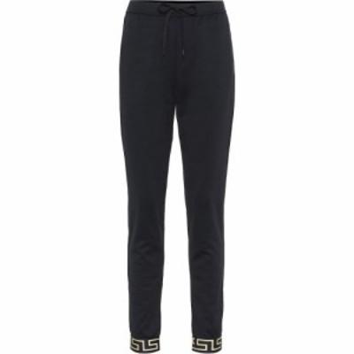 ヴェルサーチ Versace レディース スウェット・ジャージ ボトムス・パンツ Cotton-Jersey Trackpants Nero