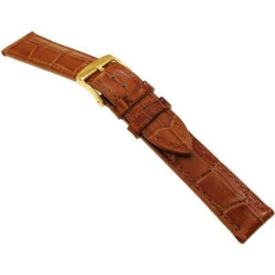[バンビ]BAMBI 時計バンド ベーシックカラー 型押し ブラウン 18mm BK109C-P