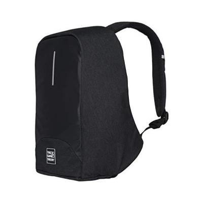 旅行のラップトップのバックパック、大学/ビジネスのためのUSB港が付いている黒い盗難防止袋【並行輸