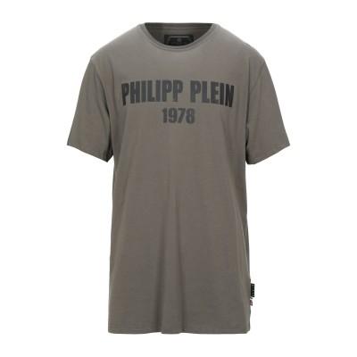 PHILIPP PLEIN T シャツ グレー XXL コットン 100% T シャツ