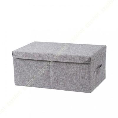 収納ボックス 大容量 ランドリーバスケット 衣類収納かご 小物入れ おしゃれ インテリア 雑貨 おもちゃ収納 綿麻製 取っ手付き 衣類 ソックス おもちゃ