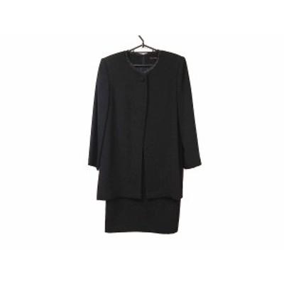ユキトリイ YUKITORII ワンピーススーツ サイズ9 M レディース 美品 黒【中古】20200529