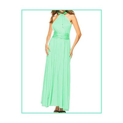Sexyshine Women's Backless Gown Dress Multi-Way Wrap Halter Cocktail Dress Bandage Bridesmaid Long Dress (MI,XL) Mint並行輸入品