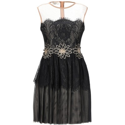 W LES FEMMES by BABYLON ミニワンピース&ドレス ブラック 40 ナイロン 100% ミニワンピース&ドレス