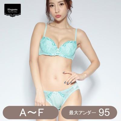 小花刺繍ブラ&ショーツセット(エレガンテ/Elegante)