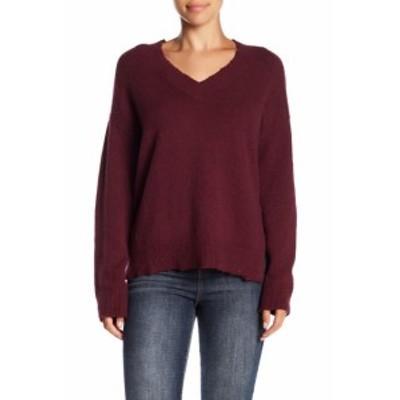Melrose  ファッション トップス Melrose And Market Womens Red Size XXL V-Neck Distressed Sweater