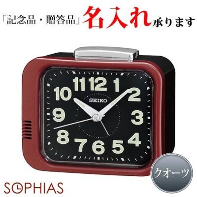 セイコークロック SEIKO KR896R クオーツめざまし時計 ブラック×レッド
