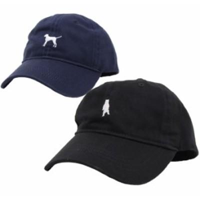 キャップ メンズ レディース 帽子 54~60cm カツラギアニマル刺繍ローキャップ ブラック ネイビー exas