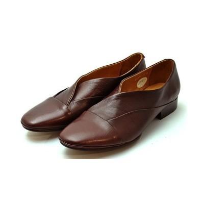 ラボキゴシ サヤ SAYA 日本製  ローヒールの美脚パンプス ボルドー ボロネーゼ製法ならではのソールの返りのいい履きやすさ