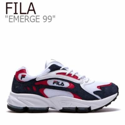 フィラ スニーカー FILA メンズ レディース EMERGE 99 イマージ 99 NAVY ネイビー RED レッド FLFL9S1U37 シューズ