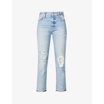 マザー MOTHER レディース ジーンズ・デニム ボトムス・パンツ The Scrapper Ankle straight stretch-denim jeans Wicked Wild Calling