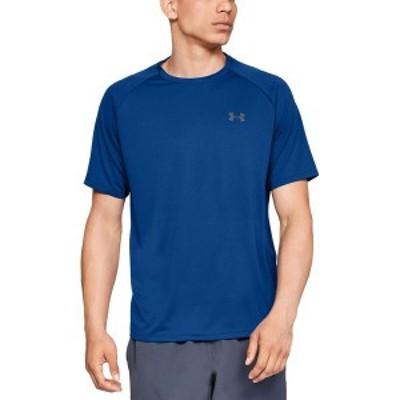 アンダーアーマー メンズ シャツ トップス Tech 2.0 Short-Sleeve Shirt Royal/Graphite