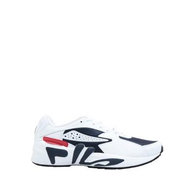 FILA スニーカー&テニスシューズ(ローカット) ホワイト 7.5 革 / 紡績繊維 スニーカー&テニスシューズ(ローカット)