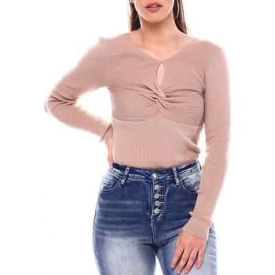 ファッションラボ Fashion Lab レディース トップス long sleeve ruched front top Khaki