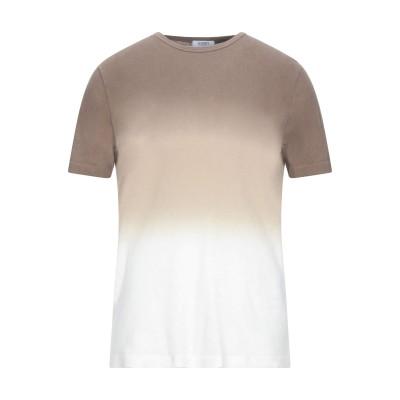 SEVENTY SERGIO TEGON T シャツ ブラウン S コットン 70% / リネン 30% T シャツ