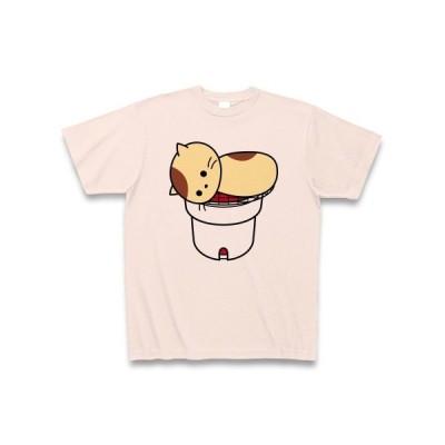 松茸ねこ Tシャツ(ライトピンク)
