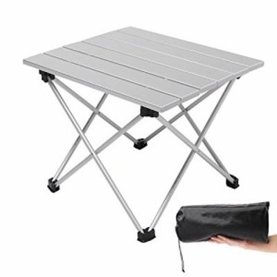 【送料無料】Moon Lence キャンプ テーブル アルミ ロールテーブル アウトドア ハイキング BBQ 折りたたみ式 コンパクト 超軽量 耐荷重23