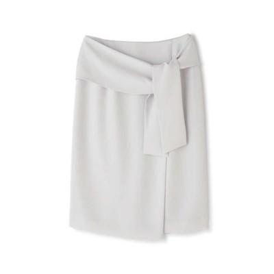 PINKY & DIANNE/ピンキーアンドダイアン ラップリボンタイトスカート グレー 38