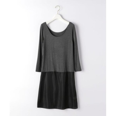 green label relaxing / D THERMO GREEN 9分袖 インナー ワンピース WOMEN トップス > Tシャツ/カットソー