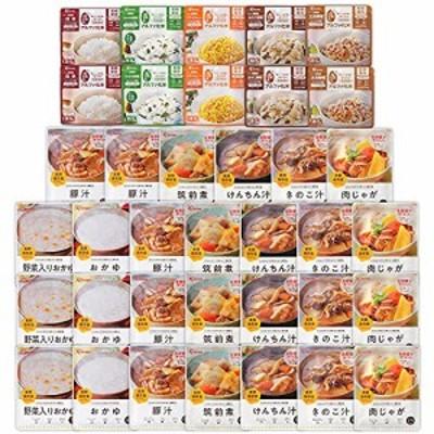 アイリスオーヤマ 非常食 5年保存 (製造から) 7日分 アルファ米 12種 42食セット スプーン付き