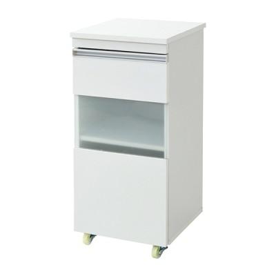 JKプラン FKC-0005-WH ホワイト 隙間ミニキッチン [キッチンラック ロータイプ 幅40 奥行39.5 高さ90cm] キッチン収納