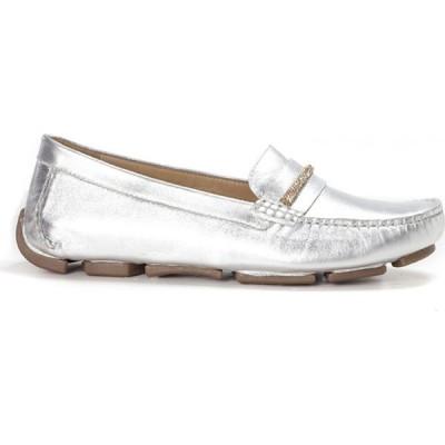 Shu Talk レディース ローファー・オックスフォード シューズ・靴 Amaztep Classic Charms Leather Loafers SILVER