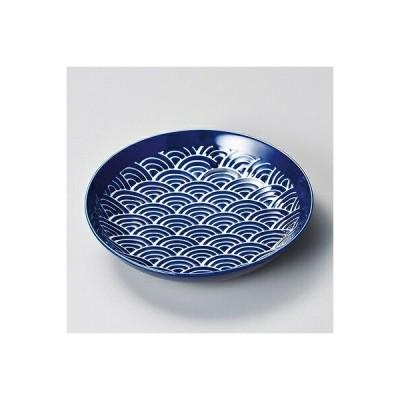 陶里 第30集 瑠璃なみ深口6.0皿 29115-160
