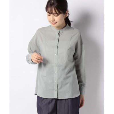 (Te chichi/テチチ)【Lugnoncure】ヨーク切替シャツ/レディース グリーン