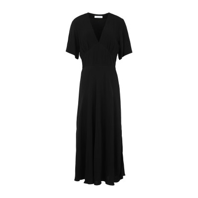SAMSØE Φ SAMSØE 7分丈ワンピース・ドレス ブラック XS レーヨン 100% 7分丈ワンピース・ドレス