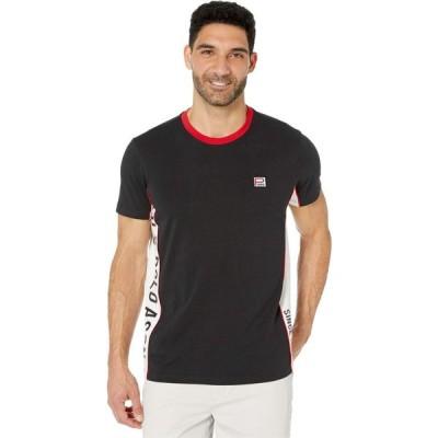 ユーエスポロアッスン U.S. POLO ASSN. メンズ Tシャツ トップス Crew Neck Ringer Black