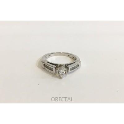 二子玉) Helzberg Diamonds  ダイヤ 14KWGリング ホワイトゴールド 指輪 アクセサリー サイズ5号 総重量2.8g 美品