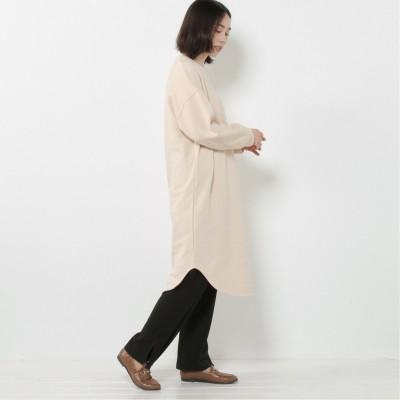 別々でも着られる◎後ろボタンワンピースとテレコパンツ【M―3L】