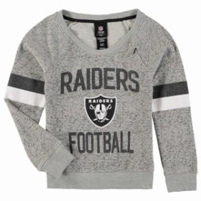 Outerstuff アウタースタッフ スポーツ用品  Oakland Raiders Girls Youth Gray My City Boat Neck Pullover Sweatshirt