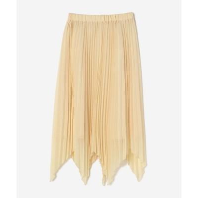 スカート 裾★プリーツスカート