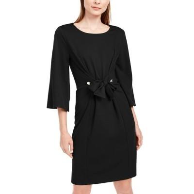 ニューヨークコレクション ワンピース トップス レディース Petite Tie-Front Dress Black