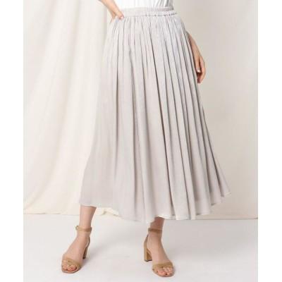Couture Brooch/クチュールブローチ シャイニーヨウリュウロングスカート ライトグレー(011) 38(M)