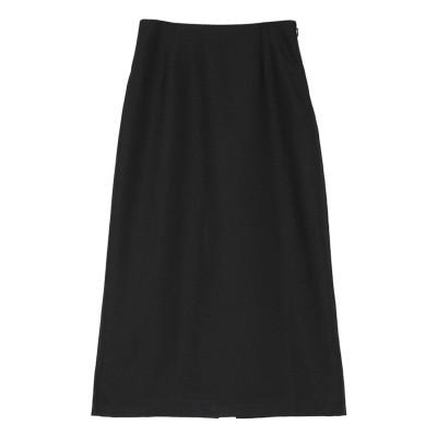 ユアーズ ur's リネンライクタイトスカート (ブラック)