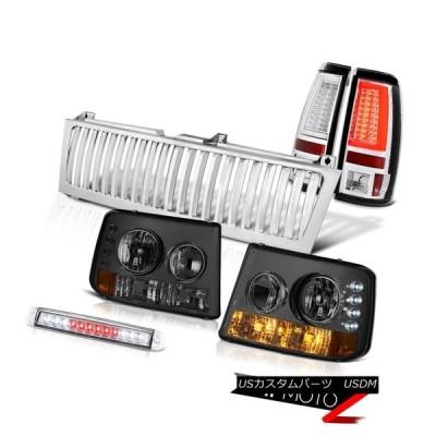 テールライト 99-02 Silverado 4WDリアブレーキランプ垂直グリル第3ランプLED「スーパーブライト」 99-02 Silverado