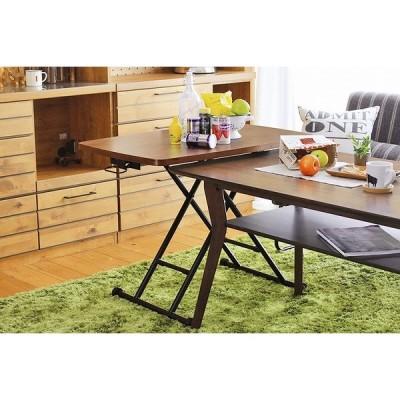 ヴォール リフトテーブル ブラウン昇降テーブル リフトテーブル ローテーブル