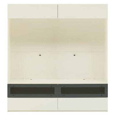 【パモウナ社製】毎日の使いやすさを考えた収納システム テレビ台幅160cm 大型テレビ対応 ウォルナット