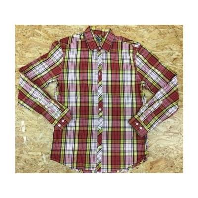 H&M エイチアンドエム Sサイズ メンズ シャツ チェック柄 レギュラーカラー 長袖 ロングスリーブ 綿100% オレンジ×黄色×紺など