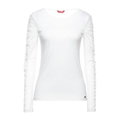 ゲス GUESS T シャツ ホワイト XS レーヨン 100% / ナイロン / ポリウレタン T シャツ
